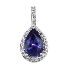 RHAPSODY 950 Platinum AAAA Tanzanite (Pear 1.25 Ct), Diamond Pendant 1.400 Ct.