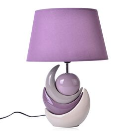 Shades of Purple Ceramic Stone Table Lamp (Size 40x30x16 Cm)
