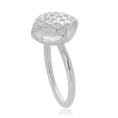 RACHEL GALLEY Sterling Silver Memento Diamond Ring, Silver wt 4.87 Gms.