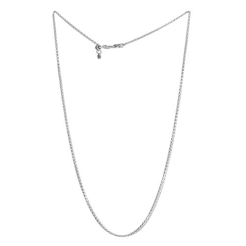 Sterling Silver Adjustable Oval Rolo Chain (Size 24), Silver wt 3.60 Gms.