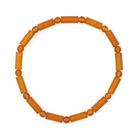 Baltic Amber (Rnd) Stretchable Bracelet (Size 7.5)