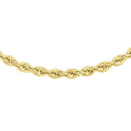 JCK Vegas Collection 9K Yellow Gold Rope Chain Necklace Size 20 Inch, 7.00 Gms.