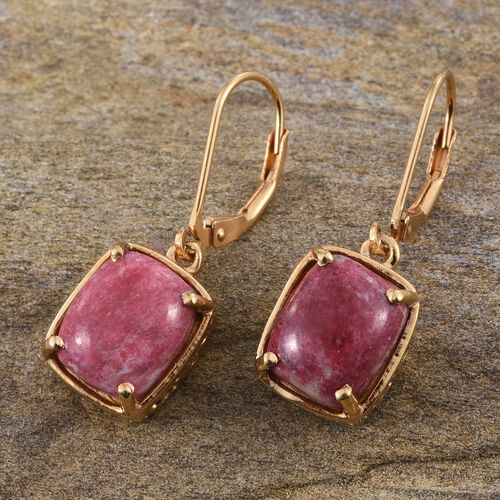 Norwegian Thulite (Cush) Earrings in 14K Gold Overlay Sterling Silver 8.500 Ct.