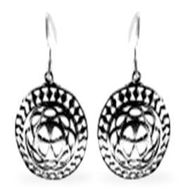 Thai Sterling Silver Hook Earrings, Silver wt 4.00 Gms.