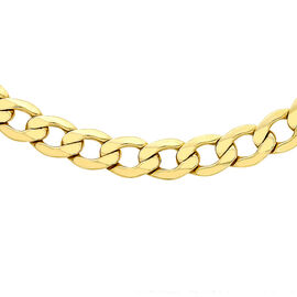 Italian 9K Y Gold 6 Sided Curb Necklace (Size 24),Gold Wt. 18.50 Gms