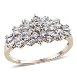 9K Y Gold (Rnd) Ring Made with SWAROVSKI ZIRCONIA 1.142 Ct.