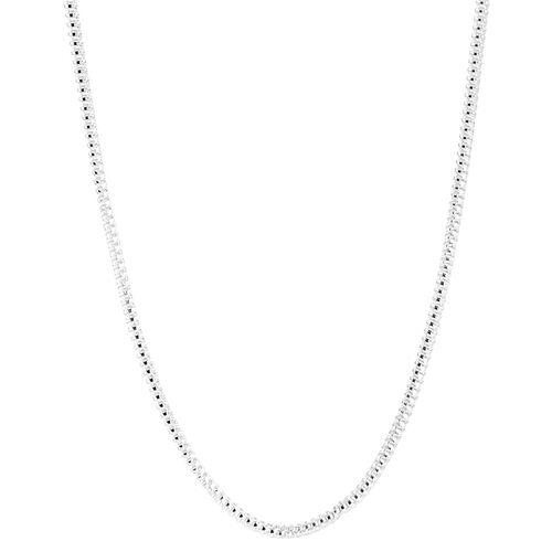 Italian Designer Sterling Silver Chain (Size 18), Silver wt 6.94 GM