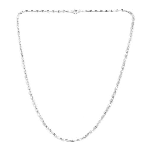 Close Out Deal Sterling Silver Necklace (Size 18)