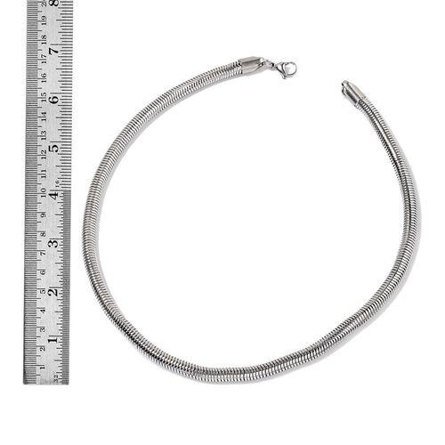 Snake Necklace (Size 20) and Bracelet (Size 8.50 with 1 inch Extender) in Stainless Steel