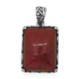Royal Bali Collection Sponge Coral (Cush) Solitaire Pendant in Sterling Silver 4.500 Ct.