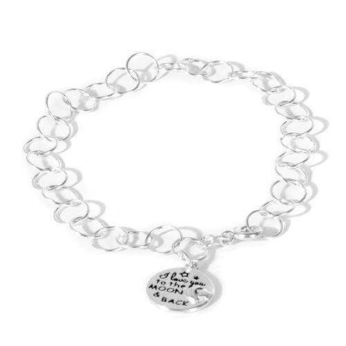 JCK Vegas Collection - Limited Edition - Sterling Silver Open Circle Bracelet with Disc Charm, Silver wt 3.60 Gms.