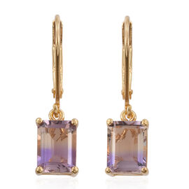 Anahi Ametrine (Oct) Lever Back Earrings in 14K Gold Overlay Sterling Silver 2.750 Ct.