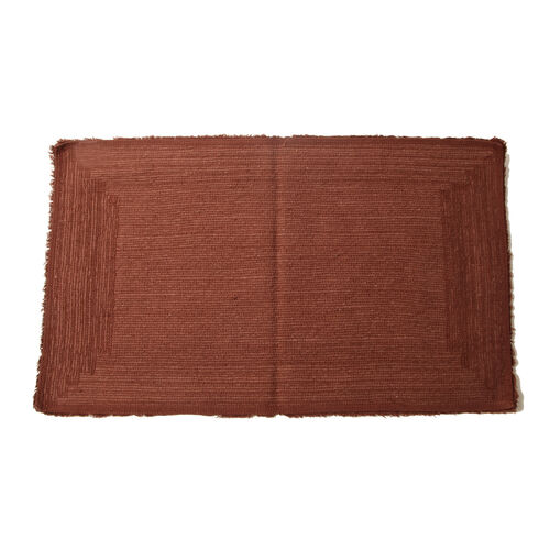 100% Cotton Taupe Colour Single Sided Tufted Bath Mat (Size 85x50 Cm)