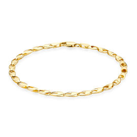 Vicenza Collection 9K Yellow Gold Oval Link Bracelet (Size 7), Gold wt 2.70 Gms.