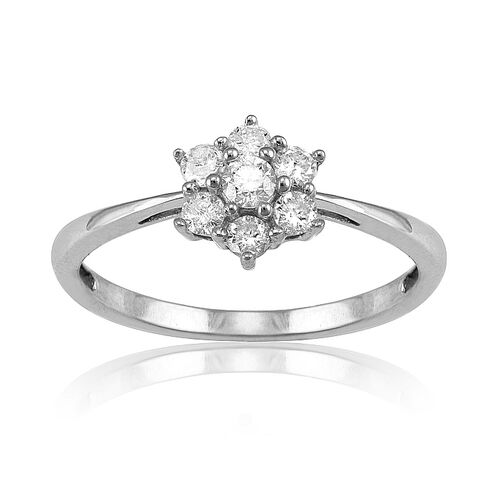 Close Out Deal 14K W Gold Diamond Ring  0.330 Ct.