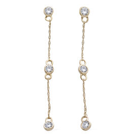 9K Y Gold SGL Certified Diamond (Rnd) (I3/ G-H) Constellation Earrings (with Push Back) 0.330 Ct.