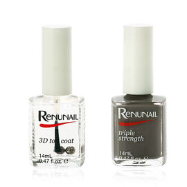 (Option 4) Dr Lewins- Renunail Graphite 14ml with 3D Top Coat 14ml