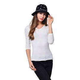Polka Dot Pattern Hat- Black (Size 28x13 Cm)