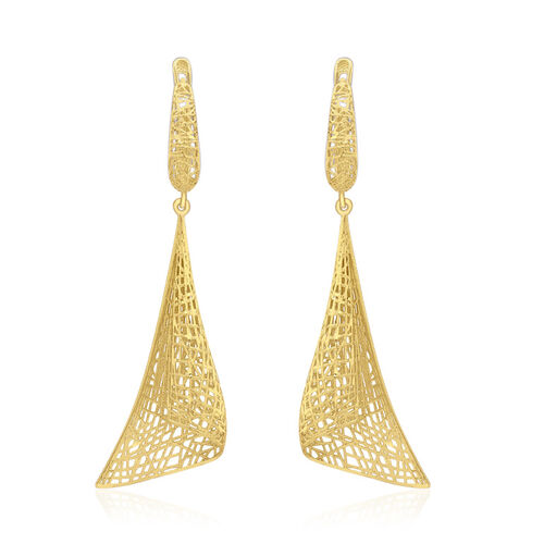 Close Out Deal 9K Yellow Gold Cone Drop Earrings (with Clasp), Gold wt 4.30 Gms.