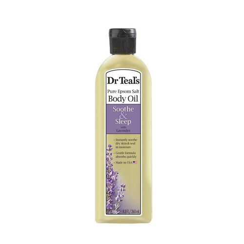 Dr Teals Pure Epsom Salt Body Oil Soothe and Sleep with Lavender  260 ml
