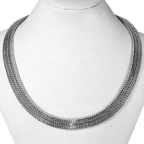 Royal Bali Collection Sterling Silver Tulang Naga Necklace (Size 17), Silver wt 146.50 Gms.