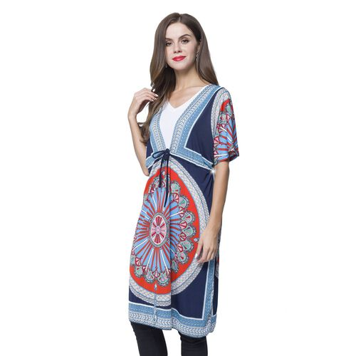 Navy, Red and Multi Colour Printed Apparel (Size 90X62 Cm) with Adjustable Waistband