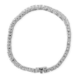 AAA Simulated White Diamond Bracelet in Sterling Silver (Size 8) 90.750 Ct.
