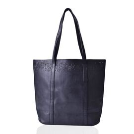 Black Colour Large Tote Bag (Size 43.5x35x32x12 Cm)