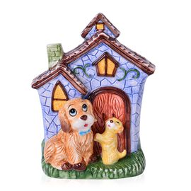 Home Decor- Ceramic Dogs and House Tableware Containers (Size 20x13.5x8.5 Cm)