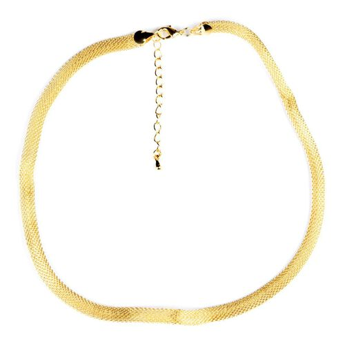 White, Black and Yellow Gold Plated Stainless Steel Chain (Size 18 inch)