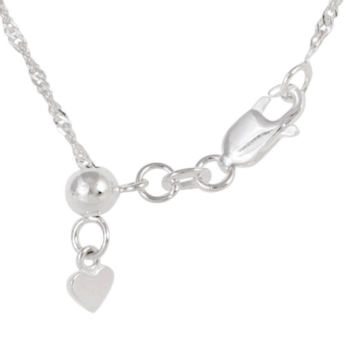 JCK Vegas Collection Sterling Silver Adjustable Diamond Cut Singapore Chain (Size 24), Silver wt 3.30 Gms.