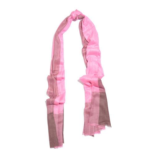 100% Cashmere Wool Super Pink Colour Scarf (Size 200x70 Cm)