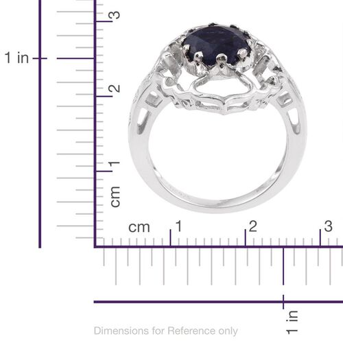 Kimberley Crimson Spice Collection Indian Sapphire (Ovl) Ring in Platinum Overlay Sterling Silver 3.000 Ct.