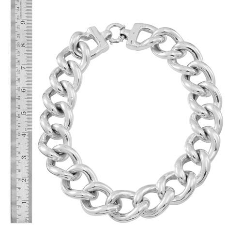Statement Collection-Silver Curb Necklace (Size 20), Silver wt 149.25 Gms.