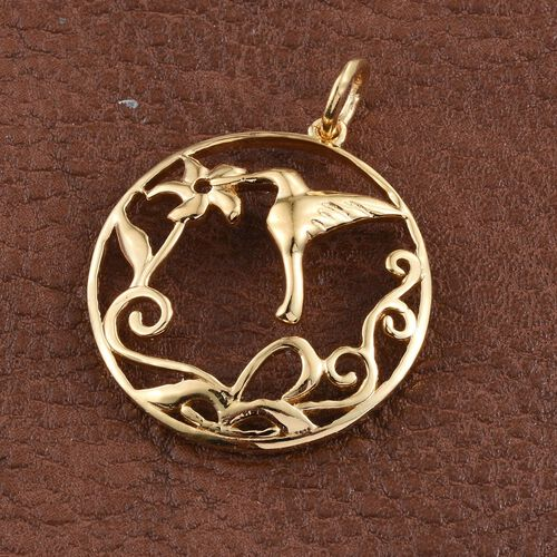14K Gold Overlay Sterling Silver Bird Pendant, Silver wt 4.16 Gms.