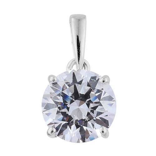 9K W Gold (Rnd) Solitaire Pendant and Stud Earrings (with Push Back) Made with SWAROVSKI ZIRCONIA