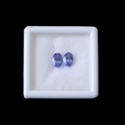Limited Available Tanzanite Set of 2 (Ovl 6x4 mm Faceted 2A) 1.001 Ct.