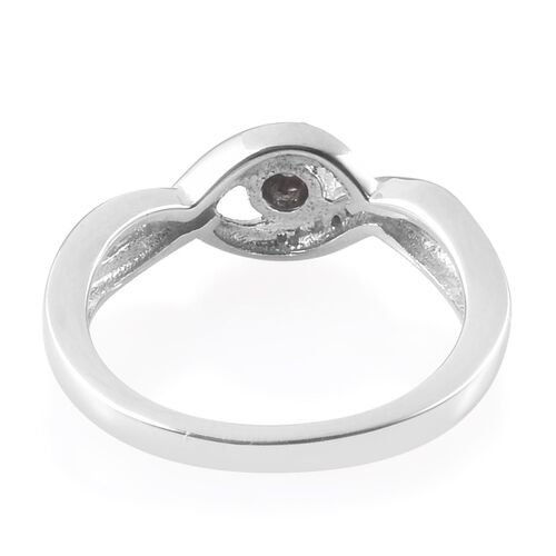 Diamond Bypass Promise Silver Ring in Platinum Overlay 0.050 Ct.