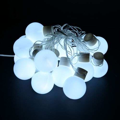 White LED Balls Light String (Size 5 meters)