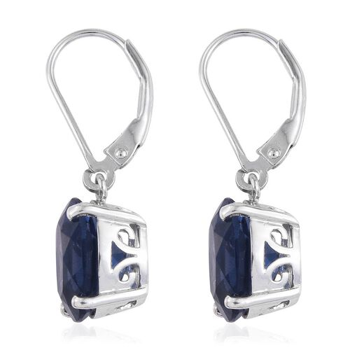 Colour Change Fluorite (Ovl) Earrings in Platinum Overlay Sterling Silver 8.250 Ct.