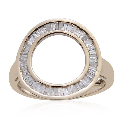 9K Y Gold SGL Certified Diamond (Bgt) (I3/ G-H) Circle of Life Ring 0.500 Ct.