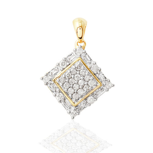 9K Y Gold SGL Certified Diamond (Rnd) (I 3/G-H) Pendant 0.500 Ct.