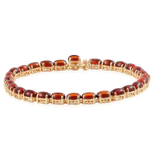 Baltic Amber (Ovl) Bracelet in Yellow Gold Overlay Sterling Silver (Size 8) 6.250 Ct.