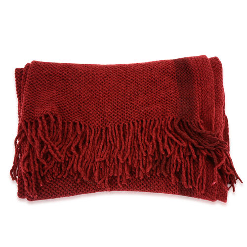New For the Season - Burgundy Colour Scarf (Size 210x90 Cm)