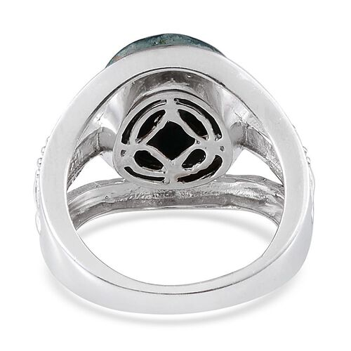 Table Mountain Shadowkite (Rnd) Solitaire Ring in Platinum Overlay Sterling Silver 8.500 Ct.