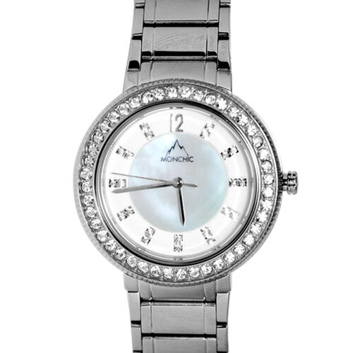 MONCHIC Parker Collection - Lady Cristale Edition Swiss Precision Oscillation Stainless Steel Wristwatch