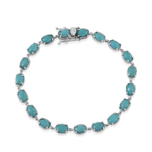 Mexican Turquoise (9.50 Ct) Sterling Silver Bracelet (Size 7)  9.500  Ct.