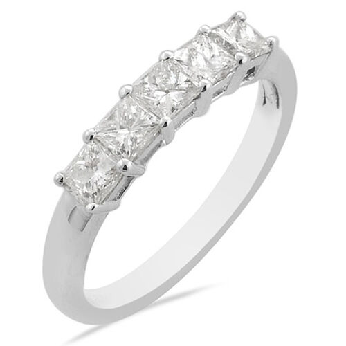 Iliana 950 Platinum IGI Certified Diamond (Sqr) (SI / F-G) Ring  1.00 Ct.
