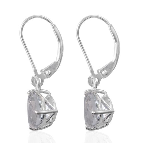 White Topaz (Trl) Lever Back Earrings in Sterling Silver 4.000 Ct.