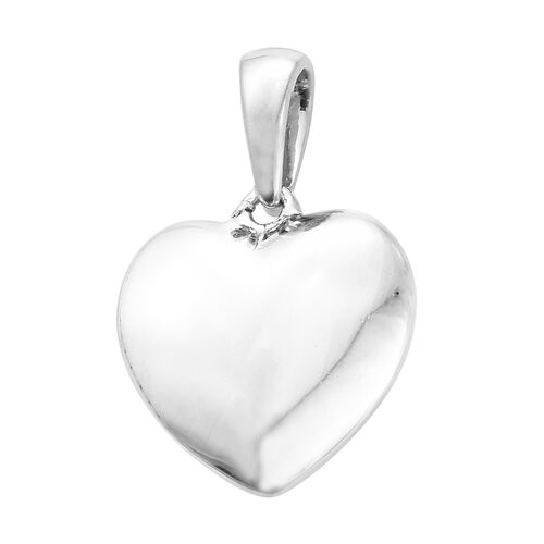 Silver Heart Pendant in Platinum Overlay